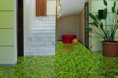 3D пол в виде газона