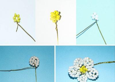 схема как делать ягодки и цветы из бисера